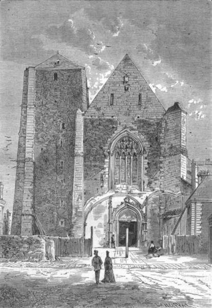 Associate Product MAINE-ET-LOIRE. Angers. L'Eglise Saint-Serge 1880 old antique print picture