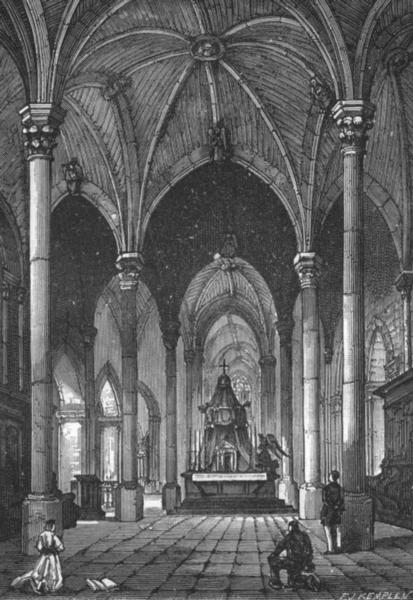 Associate Product MAINE-ET-LOIRE. Angers. Interieur de l'Eglise Saint-Serge 1880 old print
