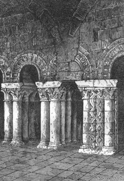 Associate Product MAINE-LOIRE. Angers. Arceaux Romans de l'abbaye St-Aubin 1880 old print