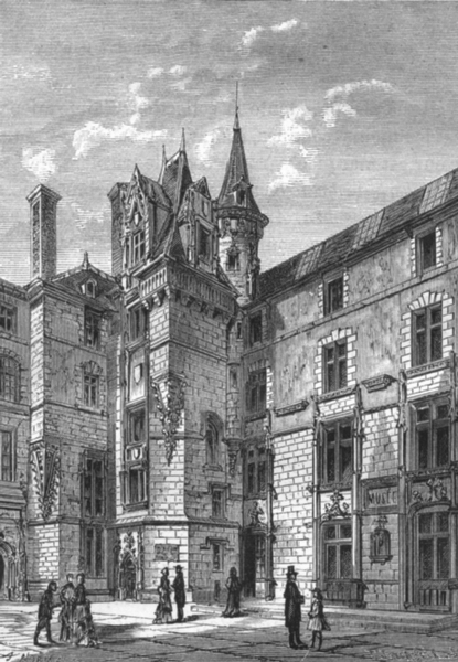 Associate Product MAINE-ET-LOIRE. Angers. Le Logis Barrault-Musee d'Angers 1880 old print