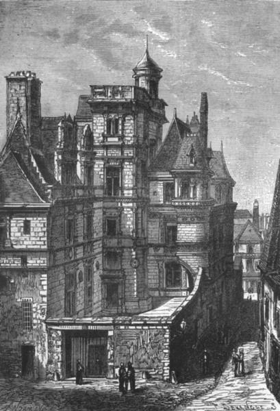 Associate Product MAINE-ET-LOIRE. Angers. L'Hotel de Pince 1880 old antique print picture