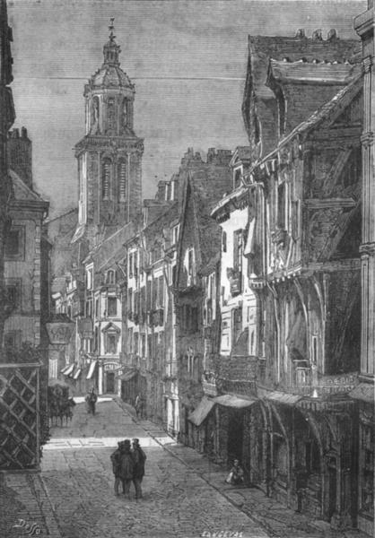 Associate Product MAINE-LOIRE. Angers. L'Eglise de Trinite(rue Beaurepaire) 1880 old print