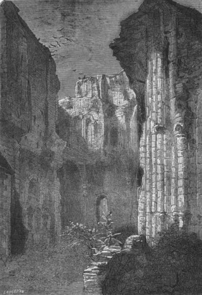 Associate Product MAINE-LOIRE. Angers. Ruines de l'Eglise St-Laurent 1880 old antique print