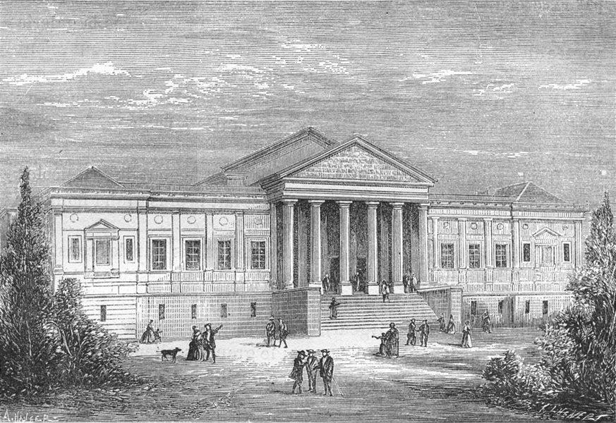 Associate Product MAINE-ET-LOIRE. Angers. Le nouveau Palais de Justice 1880 old antique print