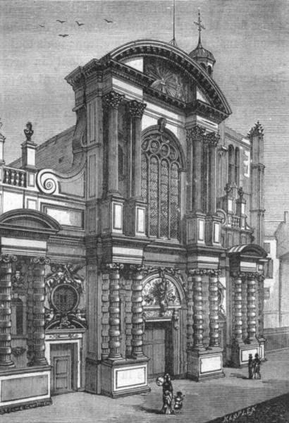 Associate Product SEINE-MARITIME. Le Havre. Notre-Dame du Havre, d'apres une photographie 1880