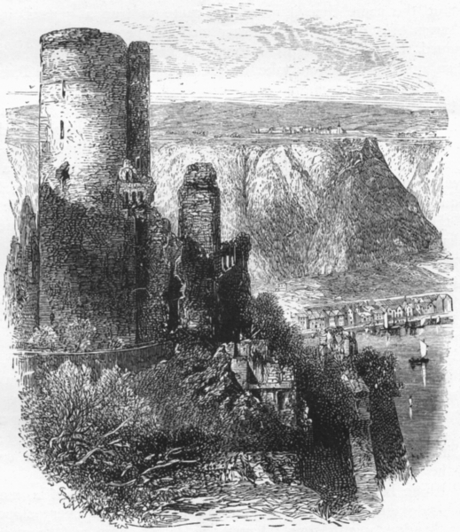Associate Product GERMANY. The Black Forest. Katz Castle, St Goar c1893 old antique print