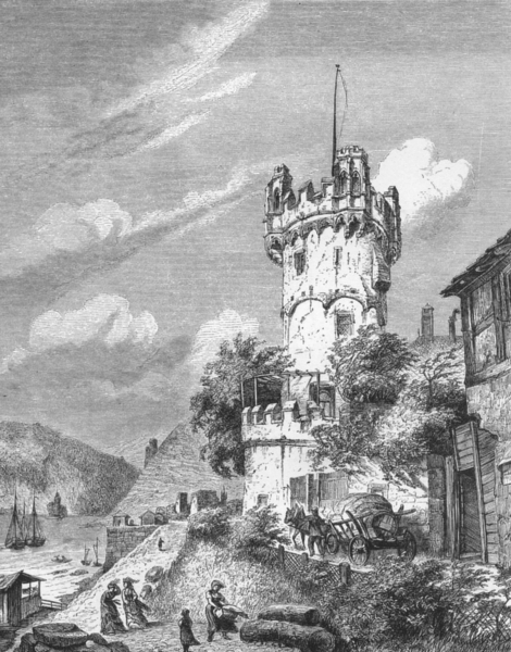 Associate Product GERMANY. The Black Forest. Rudesheim and the Bingerloch c1893 old print