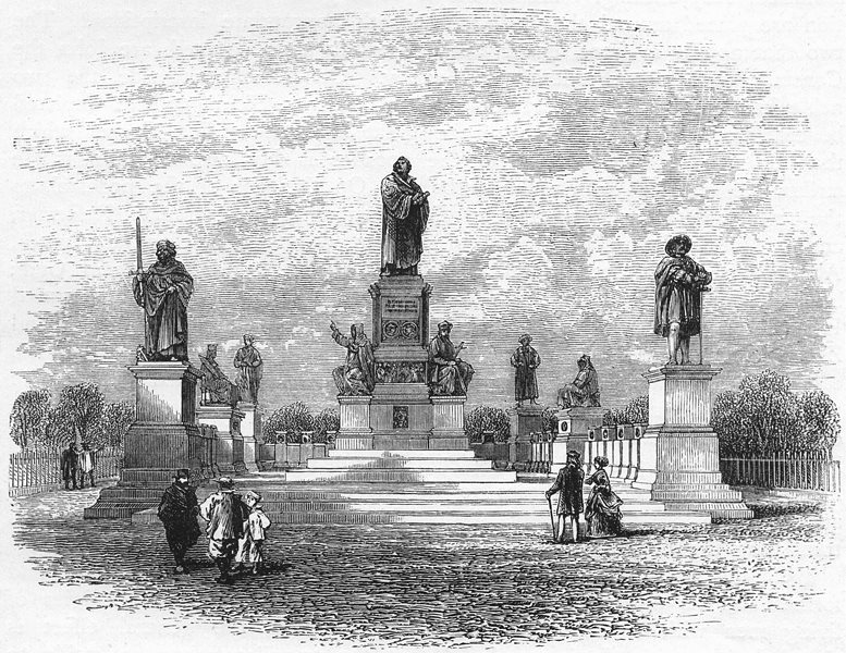 Associate Product GERMANY. The Black Forest. Luther Monument, Worms c1893 old antique print