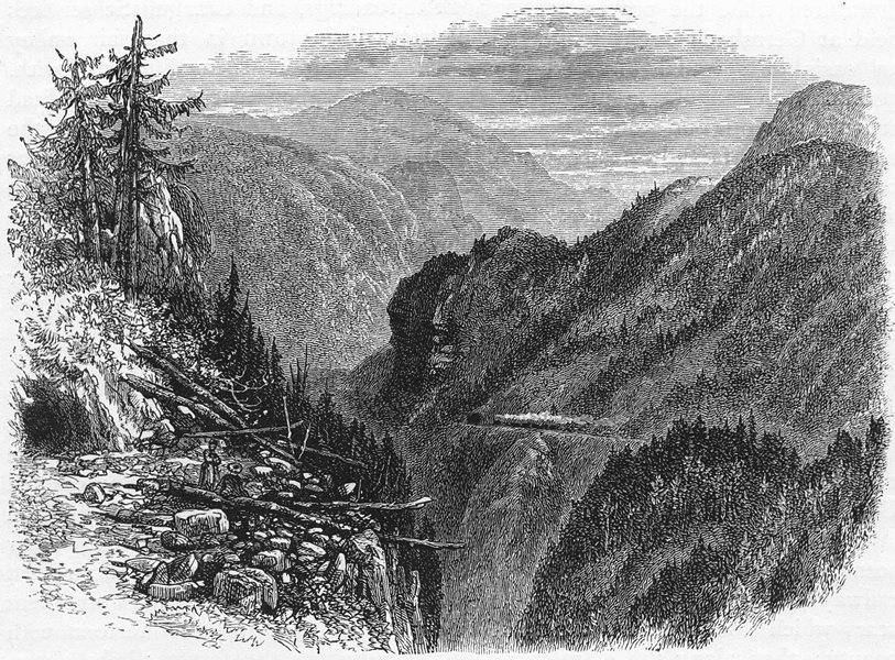 Associate Product GERMANY. The Black Forest. The Black Forest Railway c1893 old antique print