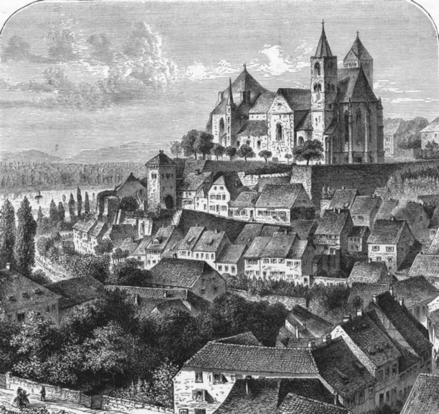 Associate Product GERMANY. Black Forest. Breisach, Rhine, Freiburg c1893 old antique print
