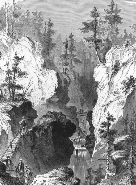 Associate Product GERMANY. Black Forest. Glen & Cascade Allerheiligen;  c1893 old antique print