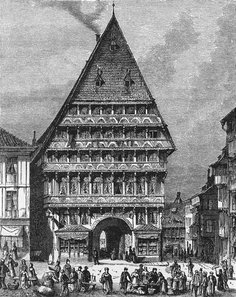 Associate Product GERMANY. Hildesheim. Old Gate-House c1893 antique vintage print picture