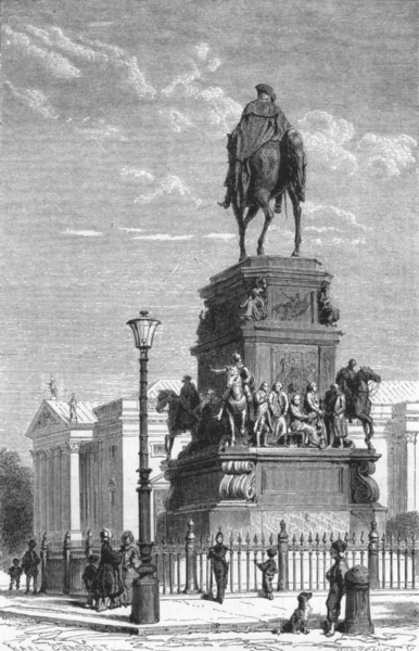 Associate Product GERMANY. Berlin. Statue of Frederick the great c1893 old antique print picture