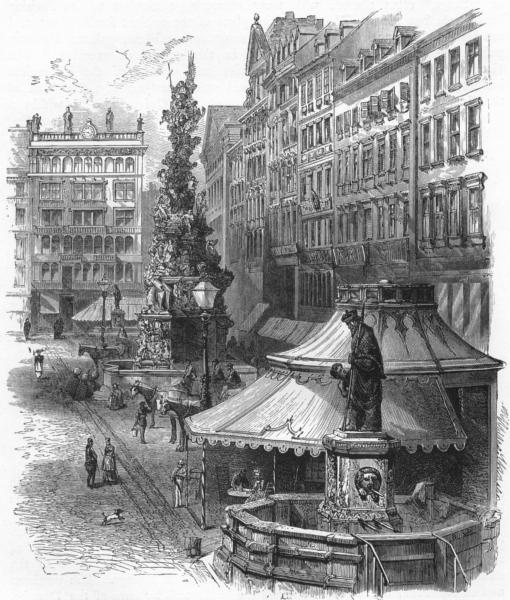 Associate Product AUSTRIA. Der Graben, Vienna c1893 old antique vintage print picture