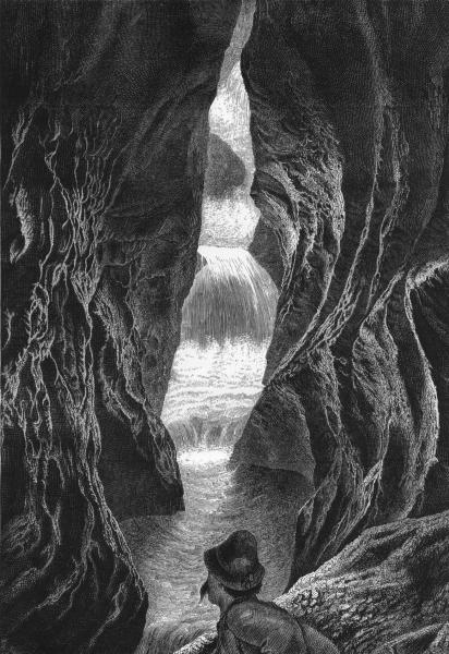 Associate Product AUSTRIA. Ravine in the Pongau Valley, Salzburg Alps c1893 old antique print