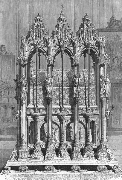 Associate Product GERMANY. Nuremberg. St Sebald's Tomb c1893 old antique vintage print picture