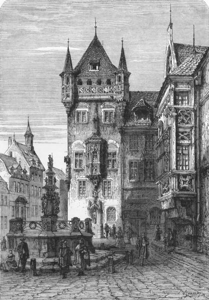Associate Product GERMANY. House of Nassau, Nuremberg c1893 old antique vintage print picture