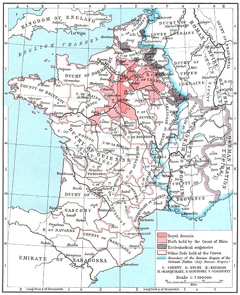 Associate Product FRANCE. France about 1035 1956 old vintage map plan chart
