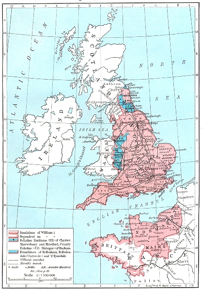 Associate Product ENGLAND. England, 1087-1154 1956 old vintage map plan chart