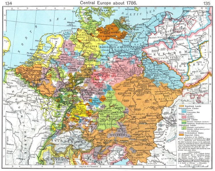 Associate Product EUROPE. Central Europe about 1786 1956 old vintage map plan chart