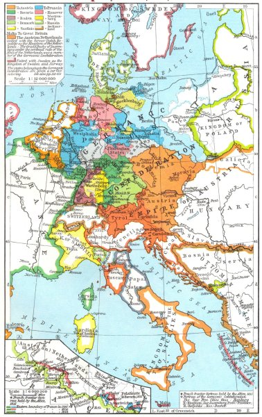 Associate Product FRANCE. Treaty adjustments, 1814, 1815 Fortresses, French border 1956 old map