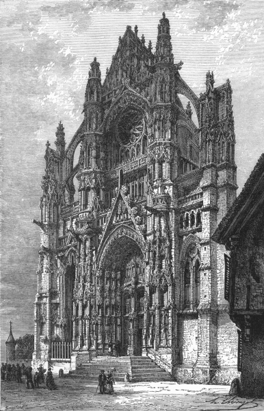 Associate Product OISE. Beauvais Cathedral c1878 old antique vintage print picture