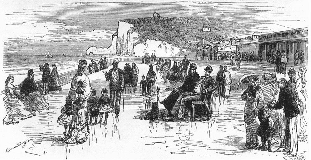 SEINE-MARITIME. Etretat. Front of the Casino c1878 old antique print picture