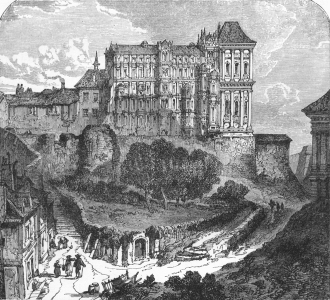 Associate Product LOIR-ET-CHER. Loire valley. Blois, with Castle c1878 old antique print picture