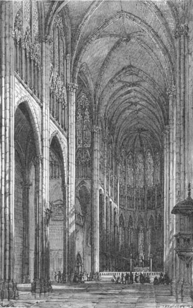 Associate Product PUY-DE-DÔME. Auvergne & Cevennes. Clermont-Ferrand cathedral c1878 old print