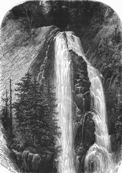 Associate Product PUY-DE-DÔME. Auvergne and the Cevennes. Fall of Quereilh c1878 old print