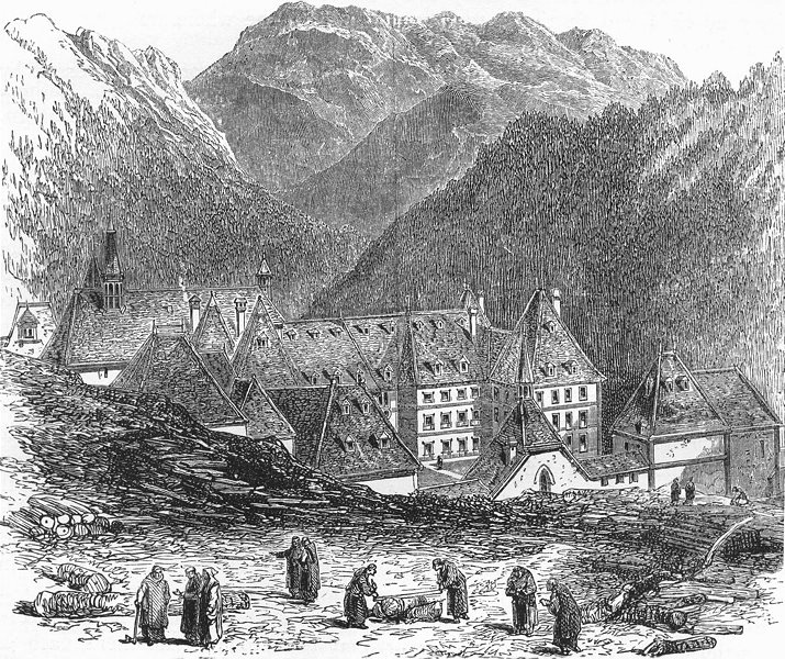 Associate Product ISÈRE. Alps of Dauphine. La Grande Chartreuse c1878 old antique print picture