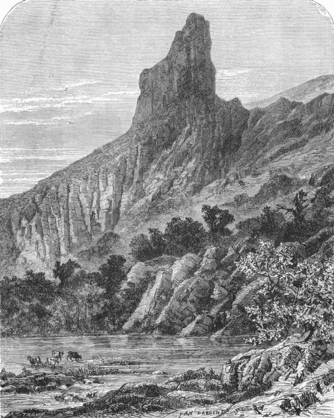 Associate Product FRANCE. Alps of Dauphine. The Aiguille Peak, Dauphine c1878 old antique print