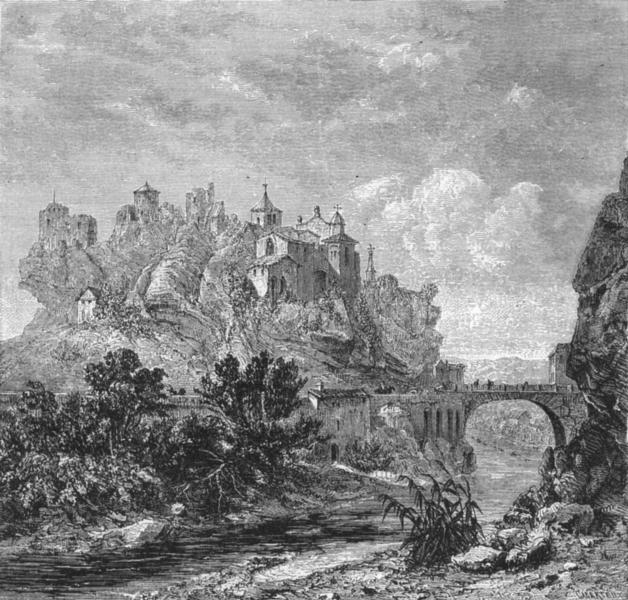 Associate Product VAUCLUSE. Alps of Dauphine. Vaison, in Vaucluse c1878 old antique print