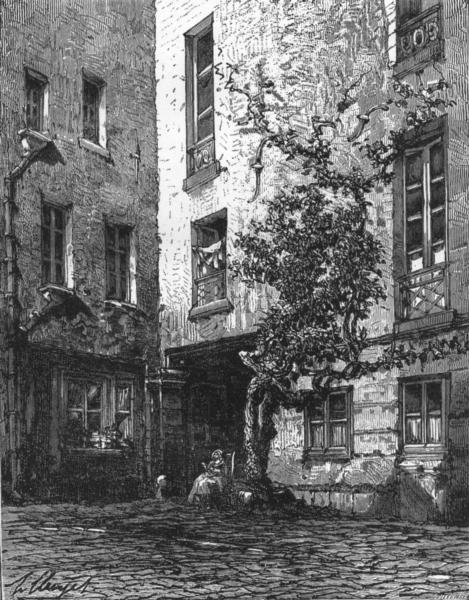 Associate Product PARIS. House of Racine, Paris c1878 old antique vintage print picture