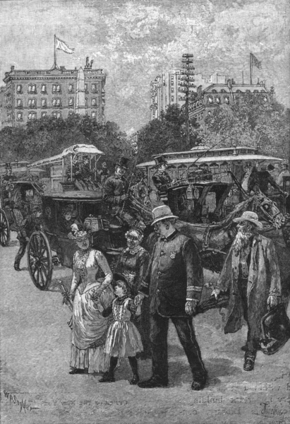 Associate Product NEW YORK. A Member of the 'Broadway Squad' on duty 1891 old antique print
