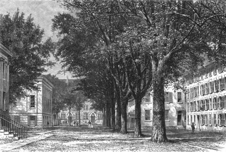 Associate Product CONNECTICUT. New England. The Elms Yale University 1891 old antique print
