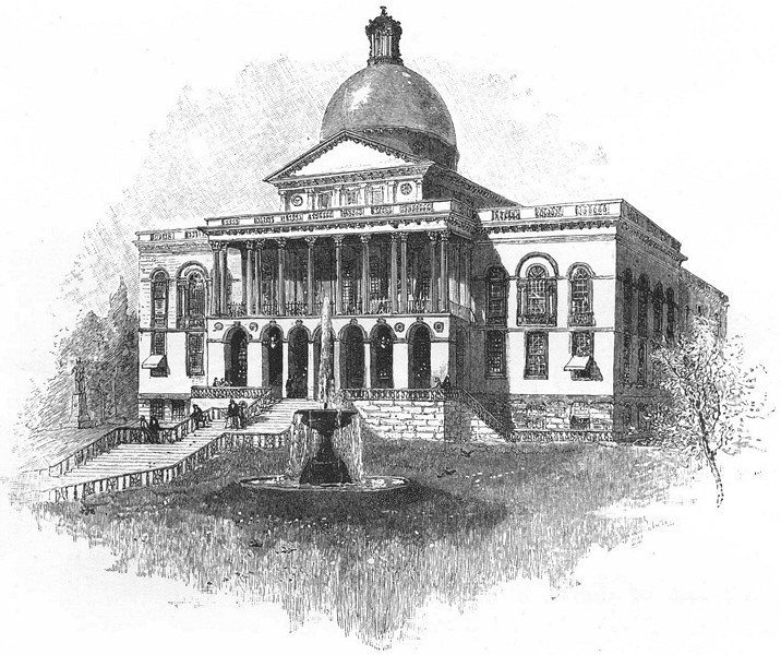 Associate Product MASSACHUSETTS. New England. The State House, Boston 1891 old antique print