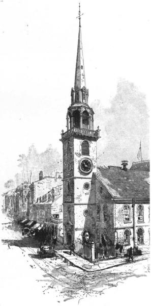 Associate Product MASSACHUSETTS. New England. Old South Church, Boston 1891 antique print