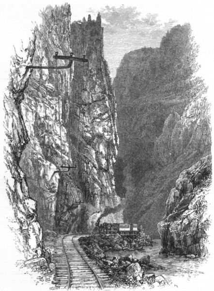 Associate Product COLORADO. The Royal Gorge of the Arkansas 1891 old antique print picture