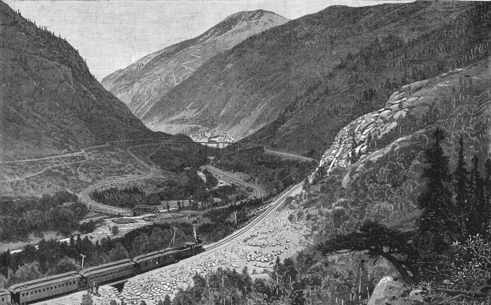 Associate Product COLORADO. The great loop at Georgetown 1891 old antique vintage print picture