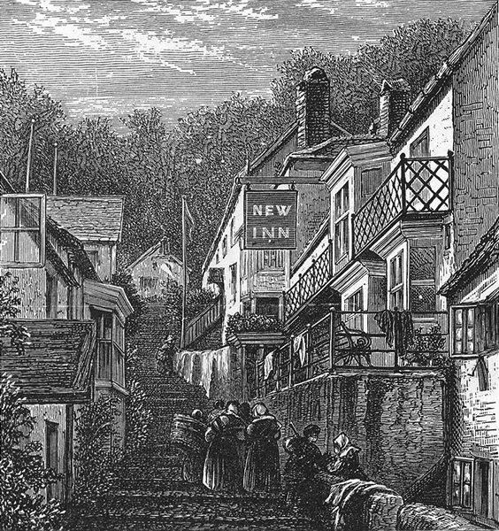 DEVON. Clovelly 1891 old antique vintage print picture