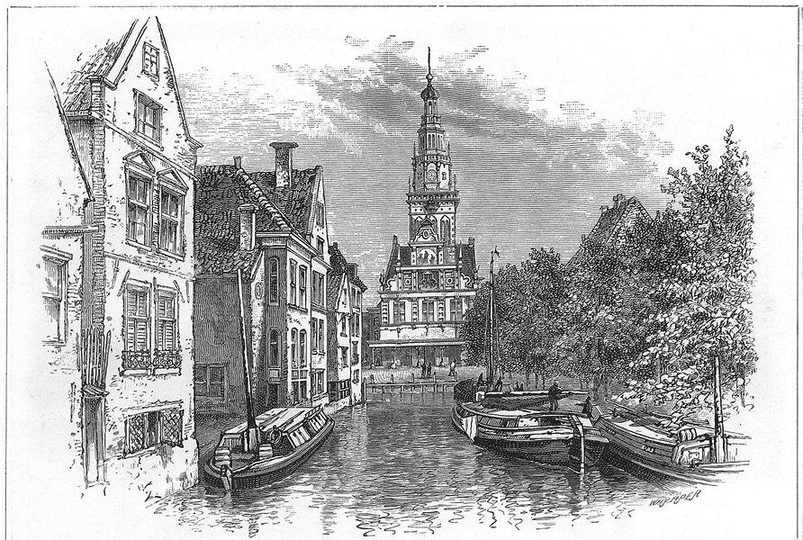 Associate Product NETHERLANDS. Alkmaar 1891 old antique vintage print picture