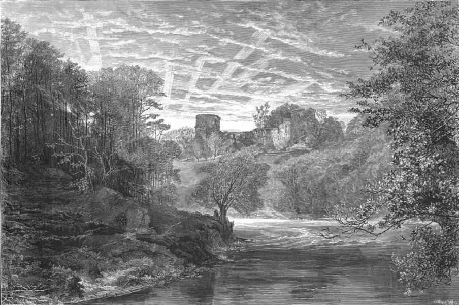 Associate Product SCOTLAND. Bothwell Castle, on the Clyde c1886 old antique print picture