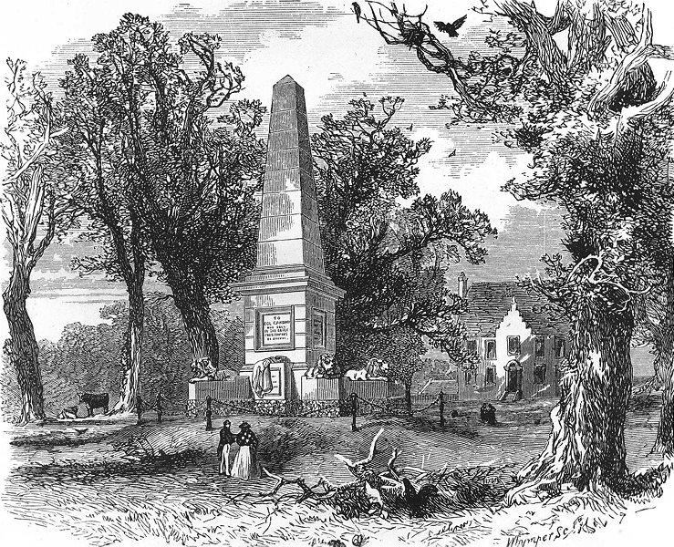 Associate Product SCOTLAND. Colonel Gardiner's Monument c1886 old antique vintage print picture