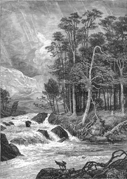 Associate Product SCOTLAND. Western Highlands. In Glen Dochart c1886 old antique print picture