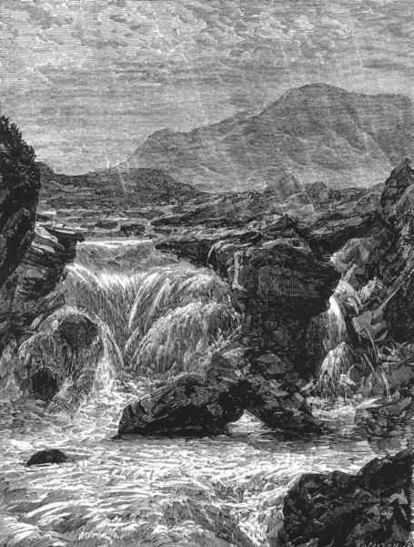 Associate Product SCOTLAND. The Central Highlands. Bruar Water c1886 old antique print picture
