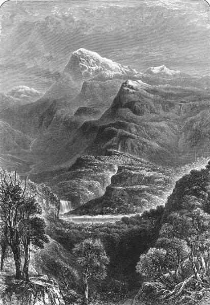 AUSTRALIA. Mount Kosciusko 1886 old antique vintage print picture