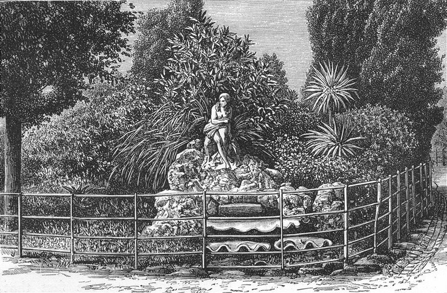 Associate Product AUSTRALIA. The Fitzroy Gardens, Melbourne 1886 old antique print picture