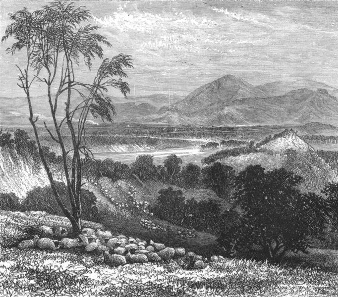 Associate Product AUSTRALIA. The Upper Goulbourn, Victoria 1886 old antique print picture
