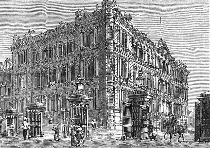 Associate Product AUSTRALIA. NSW. Govt Buildings, Macquarie Street, Sydney 1886 old print